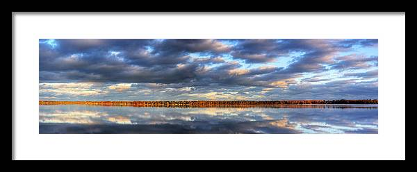 Bear Framed Print featuring the photograph Bear Lake Michigan At Sunrise by Twenty Two North Photography