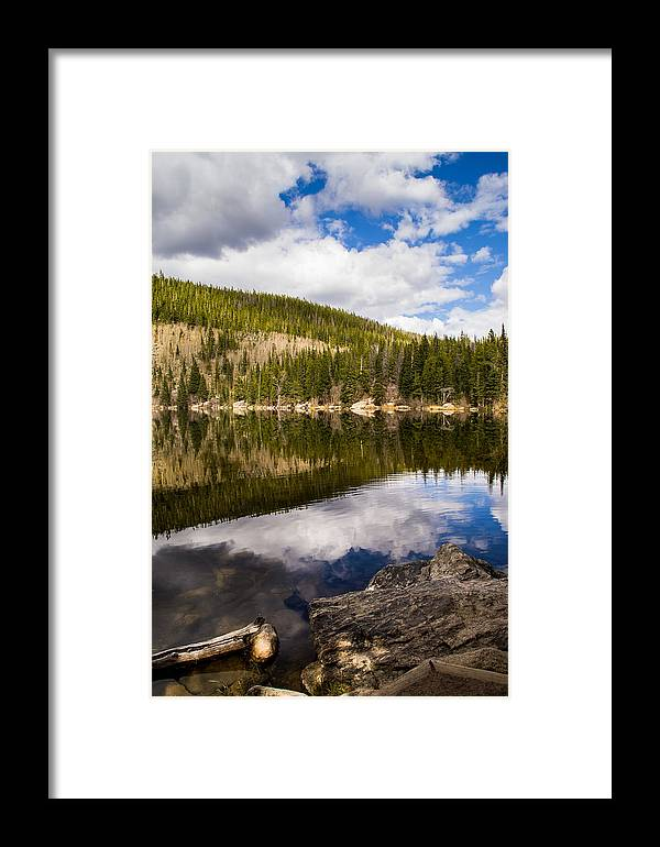 Colorado Framed Print featuring the photograph Bear Reflection by Krista Giese