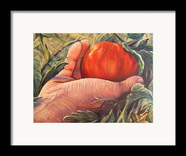 Fruit Framed Print featuring the print Bearing Good Fruit by Renee Dumont Museum Quality Oil Paintings Dumont