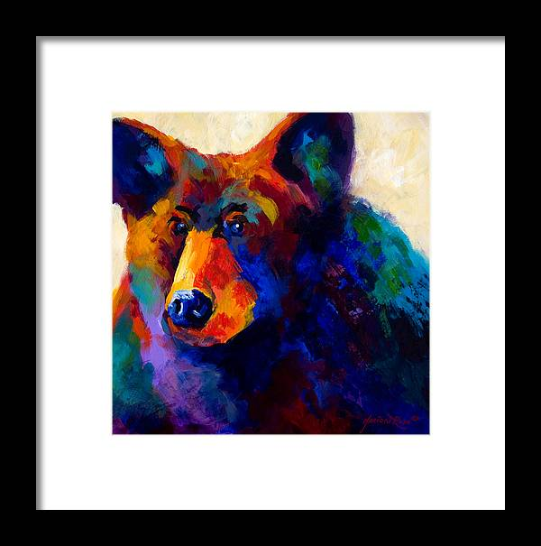 Bear Framed Print featuring the painting Beary Nice - Black Bear by Marion Rose