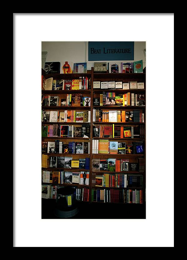 Beat Literature Framed Print featuring the photograph Beat Literature by Mary Capriole
