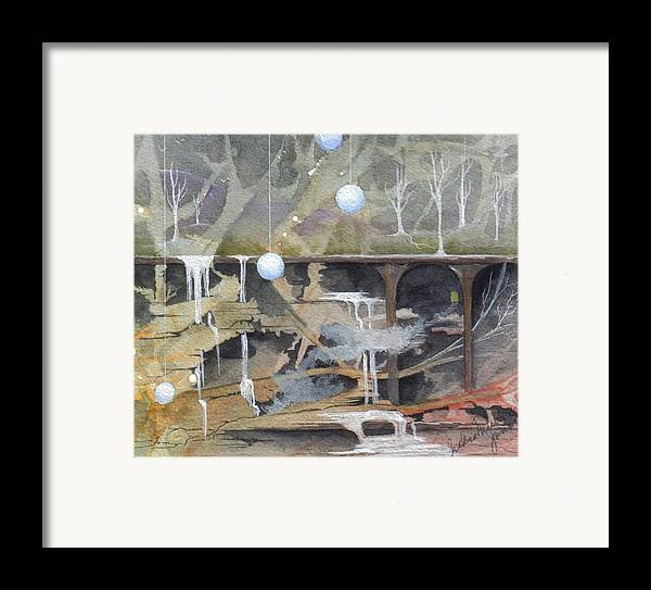Fantasy Landscape Framed Print featuring the painting Beata's Destiny by Jackie Mueller-Jones