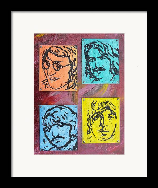 Beatles Framed Print featuring the painting Beatles Forever by Cary Singewald