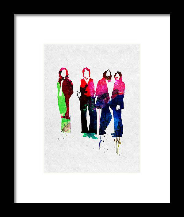 Beatles Framed Print featuring the painting Beatles Watercolor by Naxart Studio