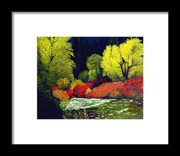 Landscape Framed Print featuring the painting Beauatiful Oregon by JoeRay Kelley