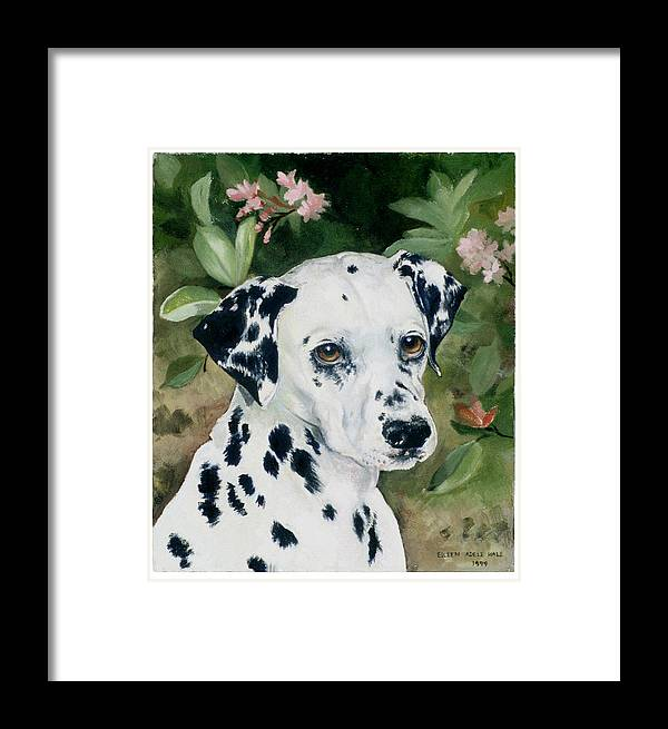 Portrait Framed Print featuring the painting Beaudiddeley by Eileen Hale