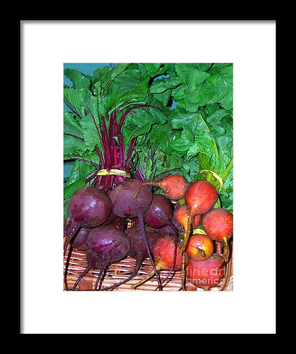 Kumu Farms Framed Print featuring the photograph Beautiful Beets by James Temple