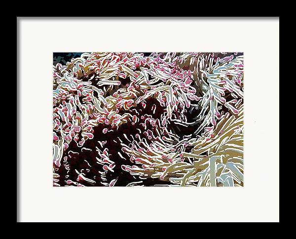 Starfish Framed Print featuring the painting Beautiful Coral Reef 1 by Lanjee Chee