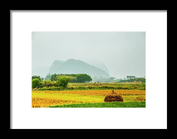 Countryside Framed Print featuring the photograph Beautiful Countryside Scenery In Autumn by Carl Ning