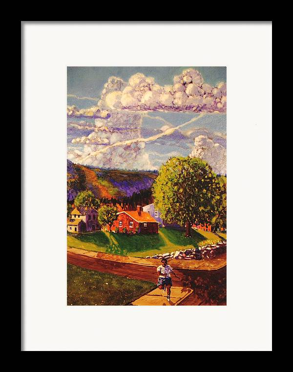 Landscape Framed Print featuring the painting Beautiful Day by Jonathan Carter
