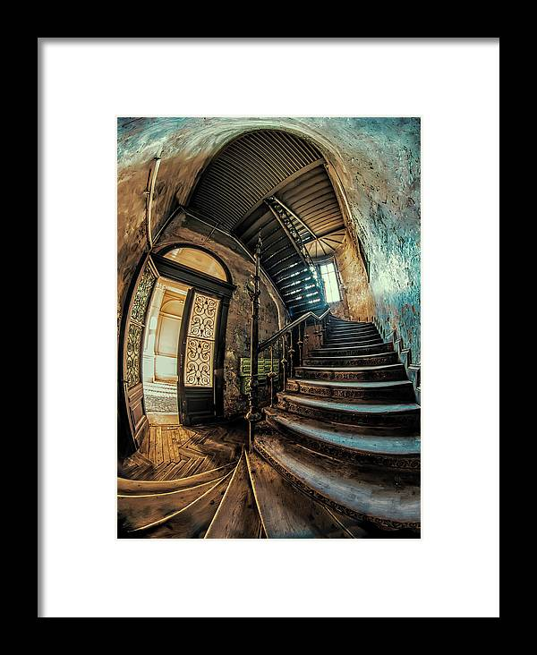 Staircase Framed Print featuring the photograph Beautiful Forgotten Staircase by Jaroslaw Blaminsky