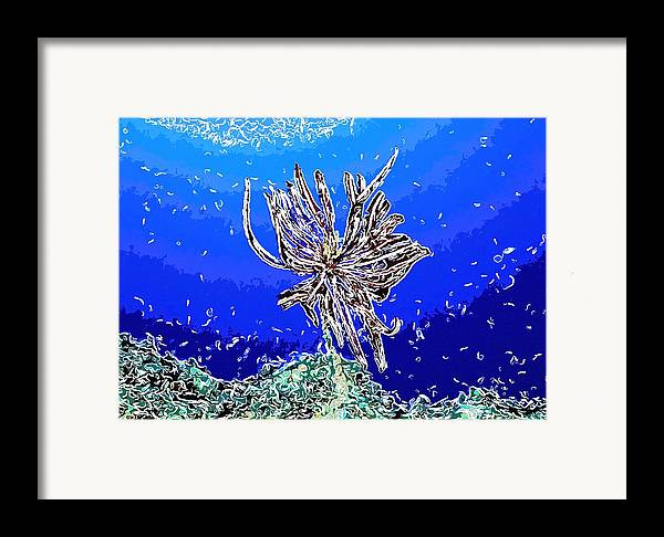 Starfish Framed Print featuring the painting Beautiful Marine Plants 1 by Lanjee Chee