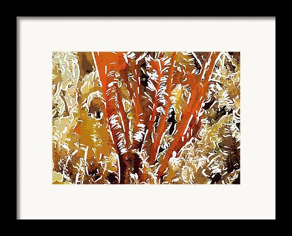 Starfish Framed Print featuring the painting Beautiful Marine Plants 8 by Lanjee Chee