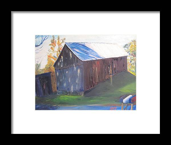 Barn Framed Print featuring the painting Beautiful Old Barn by Gloria Condon
