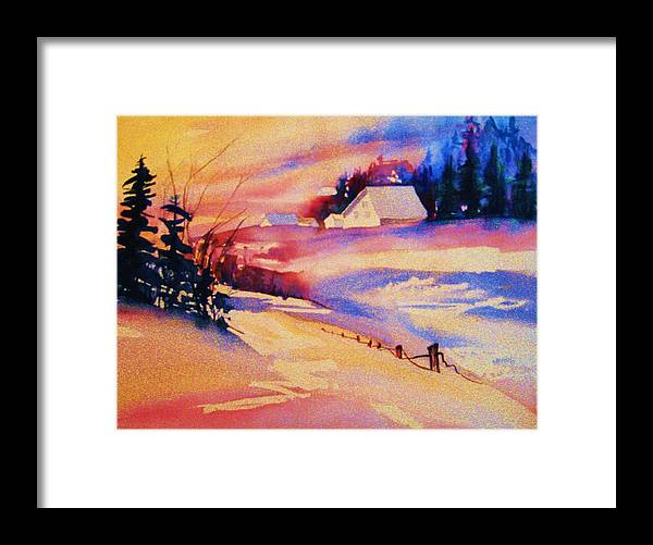 Winterscene Framed Print featuring the painting Beautiful Serenity by Carole Spandau