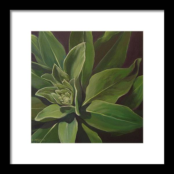 Closeup Of Mullein Plant Framed Print featuring the painting Beautiful Stranger by Hunter Jay