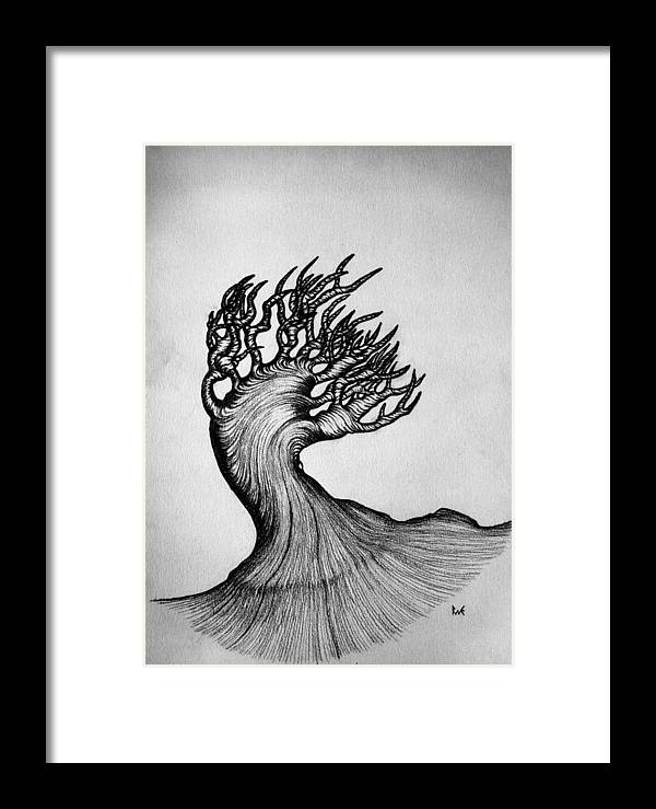 Beautiful Tree Nature Original Black And White Pen Art By Rune ...