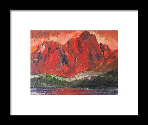 Yukon Framed Print featuring the painting Beautiful Yukon by Trilby Cole