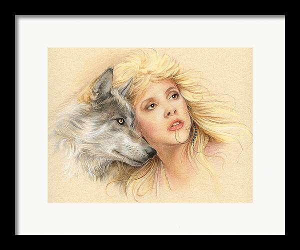 Stevie Nicks Framed Print featuring the drawing Beauty And The Beast by Johanna Pieterman