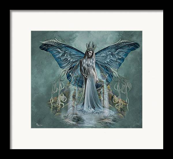 Art Framed Print featuring the digital art Beauty At Butterfly Falls by Ali Oppy