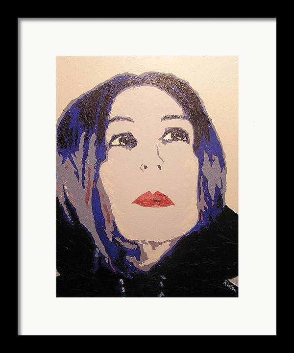 Portrait Framed Print featuring the painting Beauty Beyond The Blue by Ricklene Wren