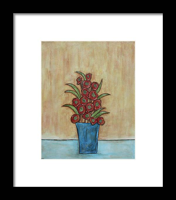 Folk Art Paintings Paintings Framed Print featuring the painting Beauty Grows by Rain Ririn