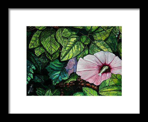 Landscape Framed Print featuring the painting Beauty In Bloom by Willie McNeal