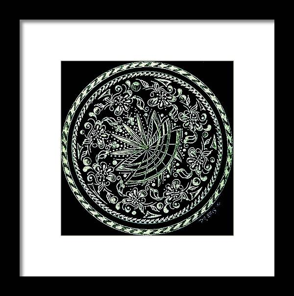 Mandala Framed Print featuring the painting Beauty In Confusion by Pam Ellis