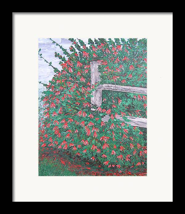 Floral Framed Print featuring the painting Beauty Is Everywhere by Ricklene Wren