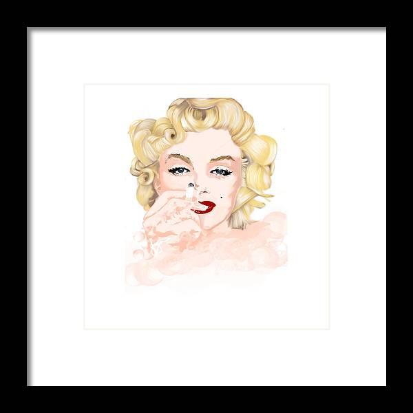Contemporary Art Framed Print featuring the digital art Beauty by Jayne Hadlow