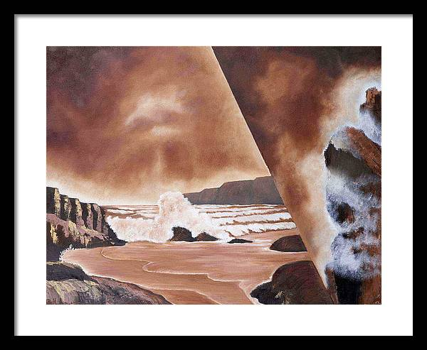 Abstract Landscape Framed Print featuring the painting Beauty Of Reality by Ara Elena
