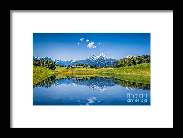 Alpine Framed Print featuring the photograph Beauty Of The Alps by JR Photography