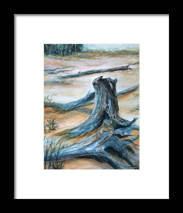Beach Framed Print featuring the painting Beauty Of The Beach by Laurine Baumgart