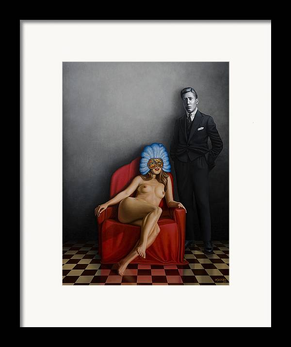 Nude Framed Print featuring the painting Beauty Of The Carnival by Horacio Cardozo