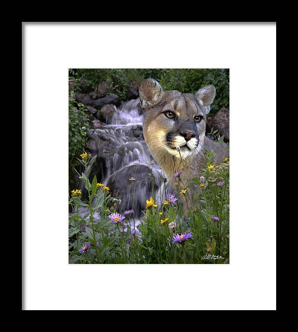 Wildlife Framed Print featuring the mixed media Beauty On The Mountain by Bill Stephens
