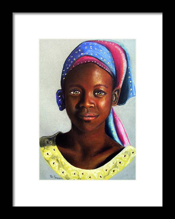 African Framed Print featuring the painting Beauty by Paul Sandilands