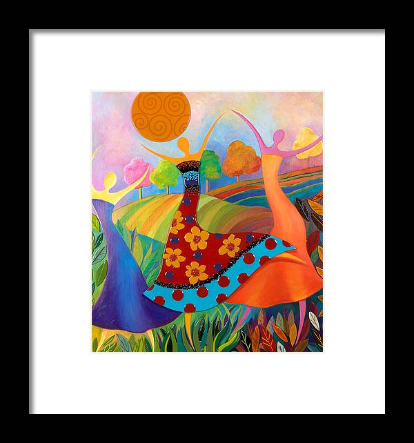 Women Framed Print featuring the mixed media Beauty Through Her Seasons by Anne Nye