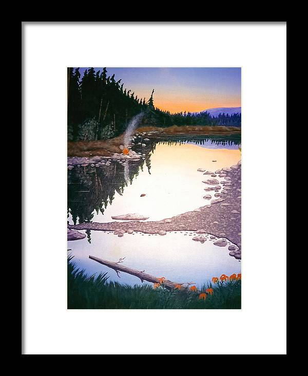 Nature Framed Print featuring the painting Beaver Creek by Arnold Isbister