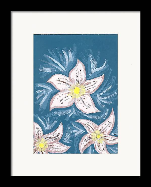Flower Framed Print featuring the painting Becky by Laura Lillo
