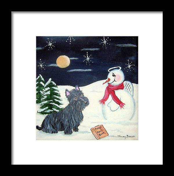 Dog Framed Print featuring the painting Becoming An Angel by Tammy Brown