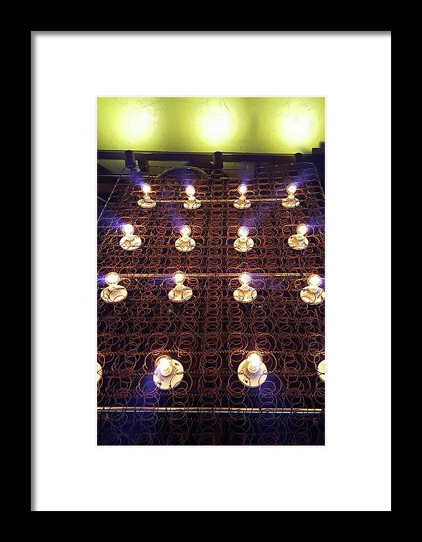 Lights Framed Print featuring the photograph Bed Spring Lights by Christopher McKenzie