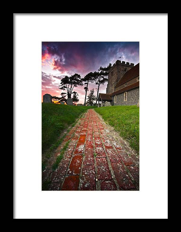 Beddingham Chruch Framed Print featuring the photograph Beddingham Chruch by Will Gudgeon