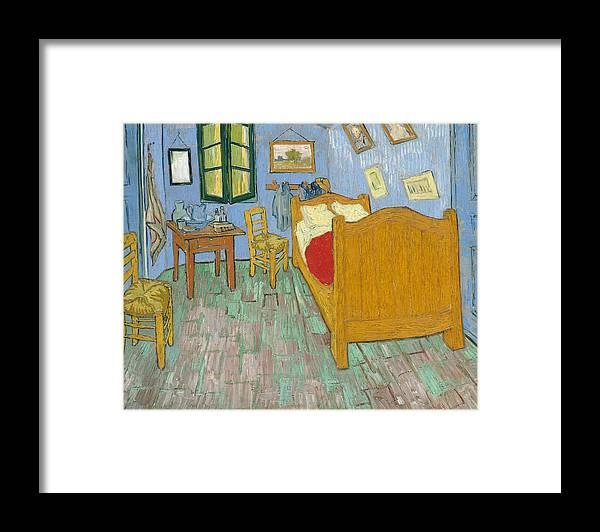 Bedroom At Arles Framed Print featuring the painting Bedroom At Arles by Van Gogh