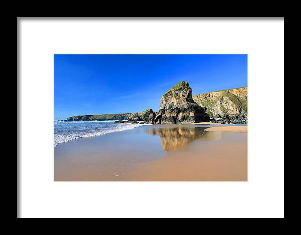 Bedruthan Framed Print featuring the photograph Bedruthan Steps by Carl Whitfield