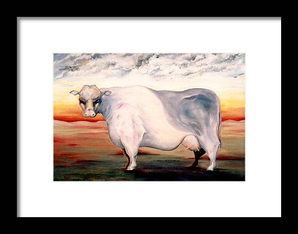 Cow Framed Print featuring the painting Beef Holocaust II by Mark Cawood