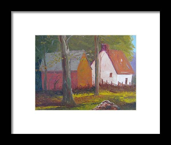 Oil Painting Framed Print featuring the painting Beekeeper's Cottage by Belinda Consten