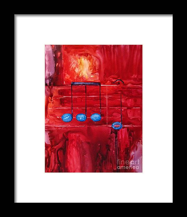 Music Framed Print featuring the painting Beethovens Fifth by Suzanne Krueger