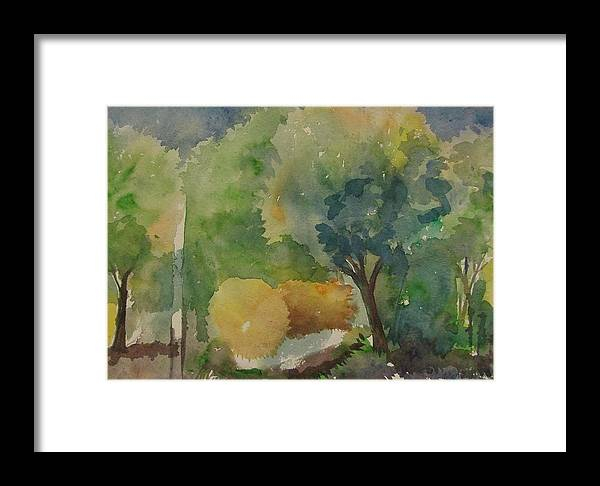 Nature Framed Print featuring the painting Before Eruption by Rima