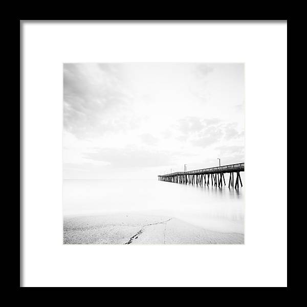 Virginia Beach Fishing Pier Framed Print featuring the photograph Before I Wake by Lisa McStamp