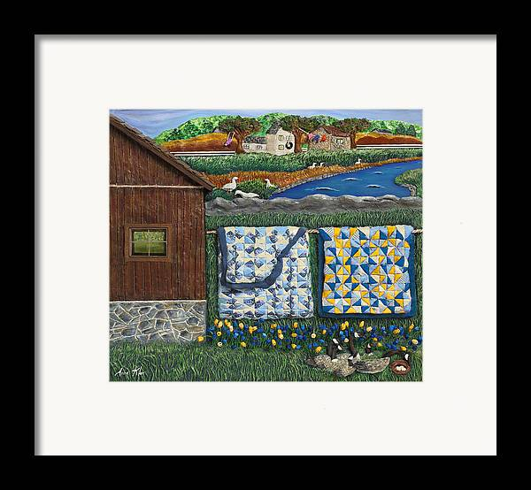 Farm Framed Print featuring the mixed media Before Now by Anne Klar